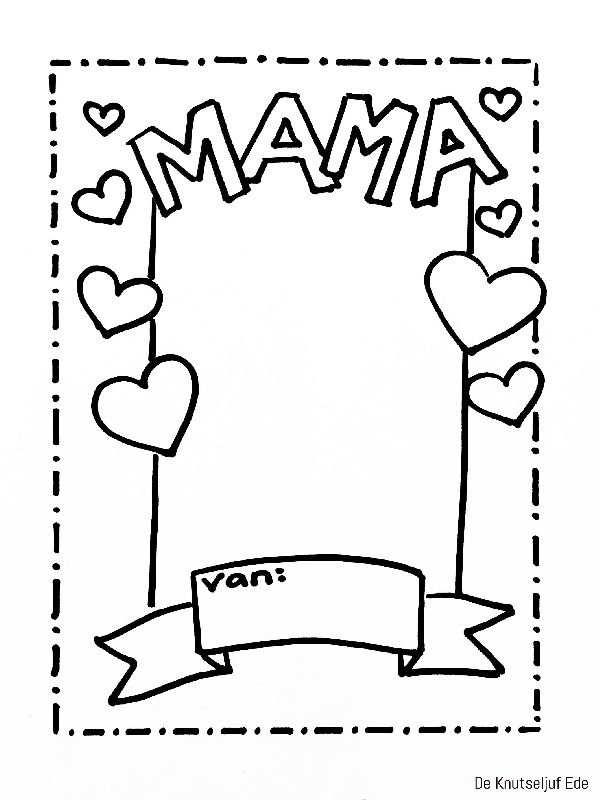 Voor Mama Fotolijstjes Om Te Kleuren Voor Moederdag