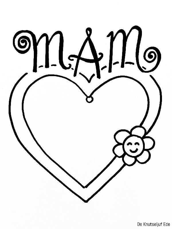 Kleurplaten Voor Mama Moederdag Knutselen Voor Moederdag
