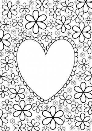 Kleurplaat Hart Kleurplaten Valentijnen Moederdagideeen