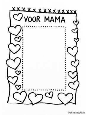 Kleurplaten Voor Mama Met Afbeeldingen Knutselidee Moederdag