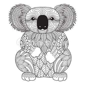Coloriage Coloriage Koala Coloriage Mandala Animaux Coloriage