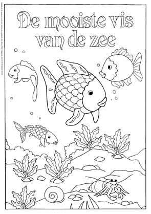 kleurplaat mooiste visje de zee