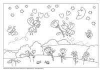 Kleurplaat Bij Thema Bijen Leren Lezen Kleurplaten Lezen