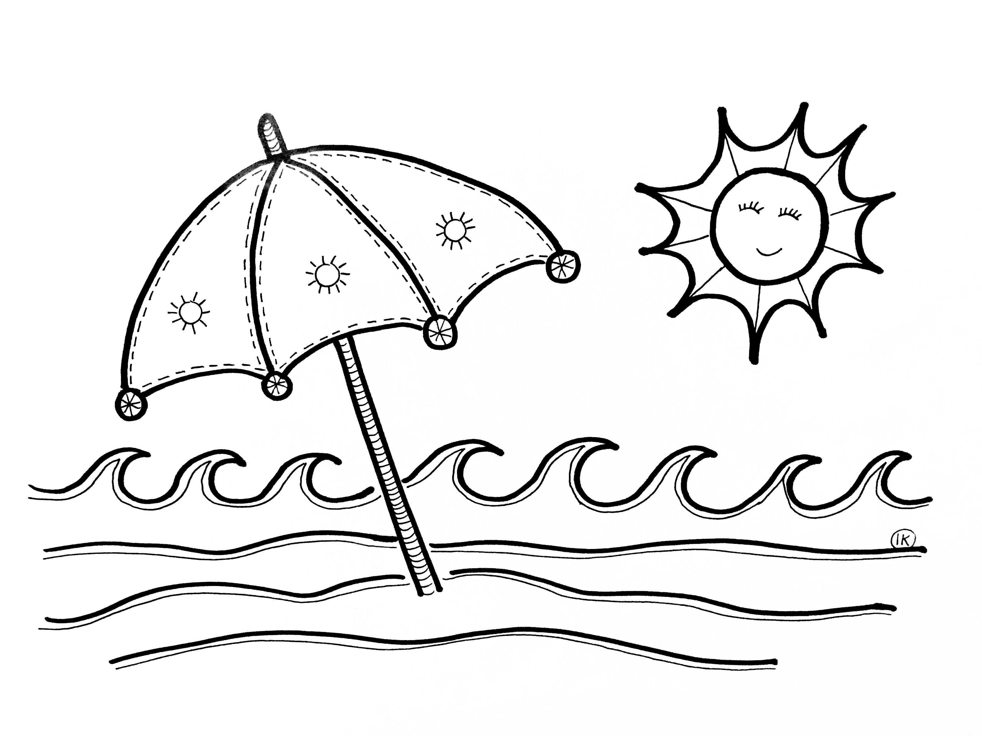 Zomerse Kleurplaten Zon Zee En Strand Kleurplaten Zomer