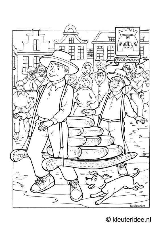 Kleurplaat Alkmaar Kleuteridee Nl Alkmaar Coloring Met