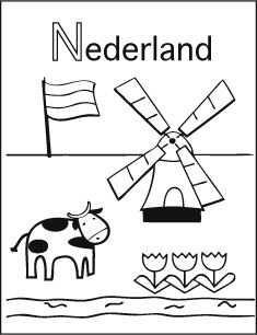 Alfabet Kleurplaat N Van Nederland Kleurplaten Nederland Holland