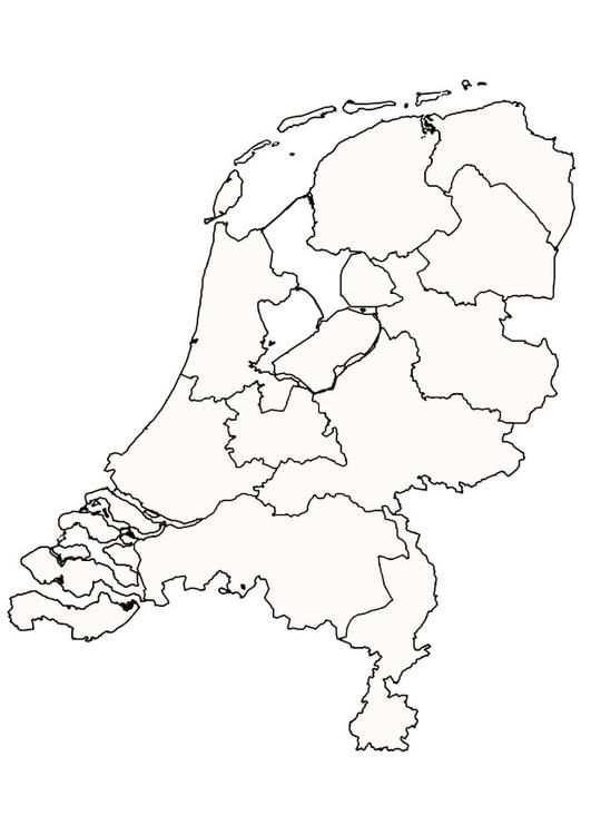 Kleurplaat Nederland Kinderen Leren Terwijl Ze Kleuren