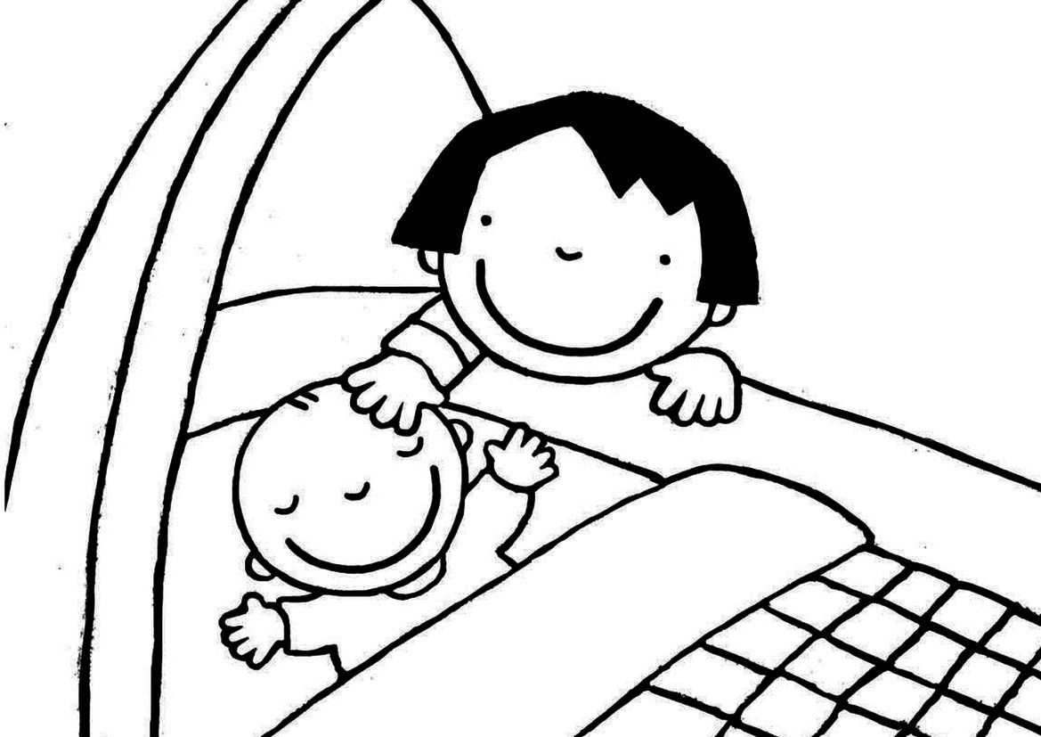 Kleurplaat Anna Op Babybezoek Knutselen Thema Baby Baby Spel
