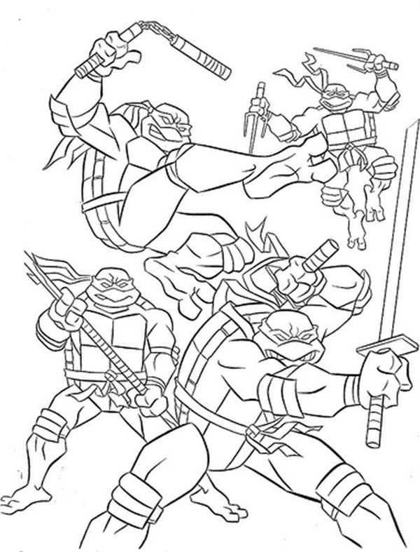 Teenage Mutant Ninja Turtles Printable Coloring Pages For Kids