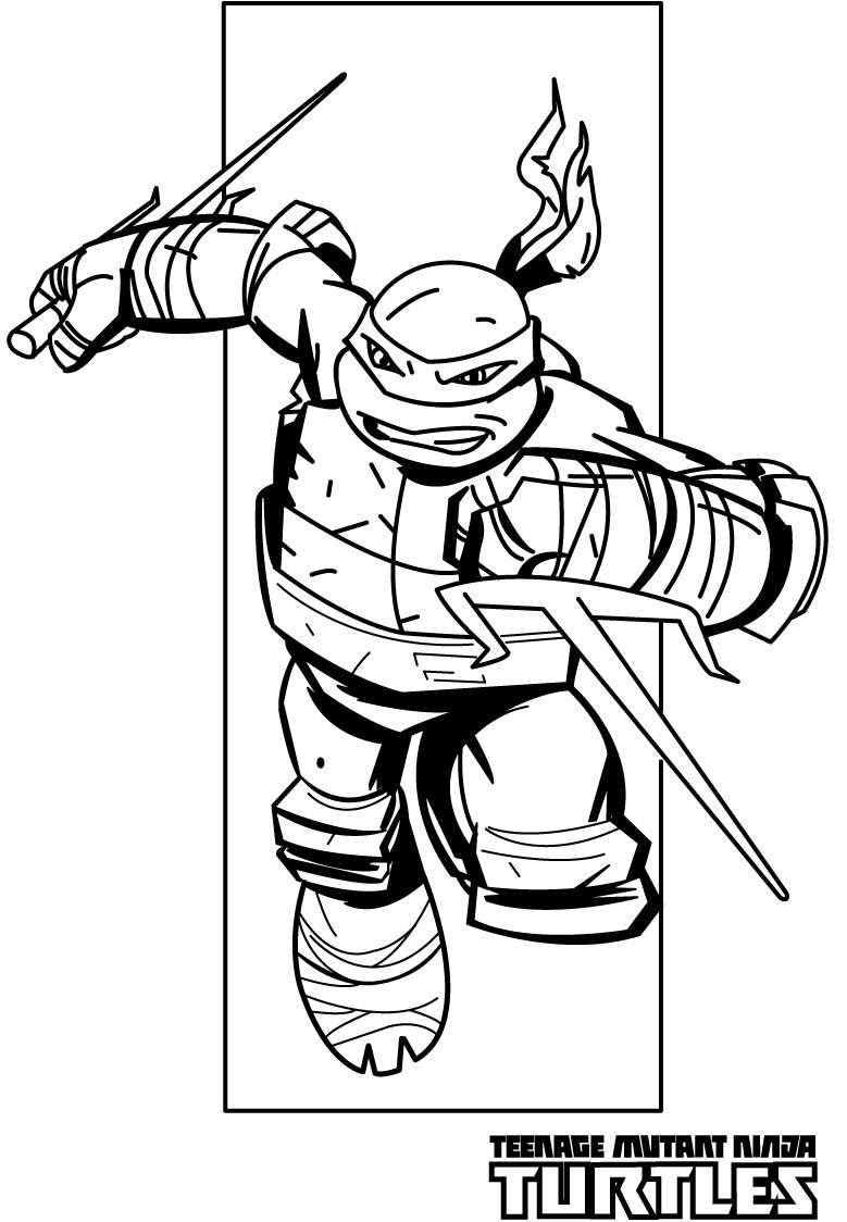 Cool Ninja Turtle Coloring Page Teenage Mutant Ninja Turtle