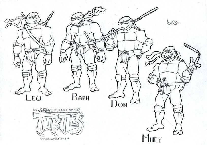 Myndanidurstada Fyrir Coloring Teenage Mutant Ninja Turtles Out