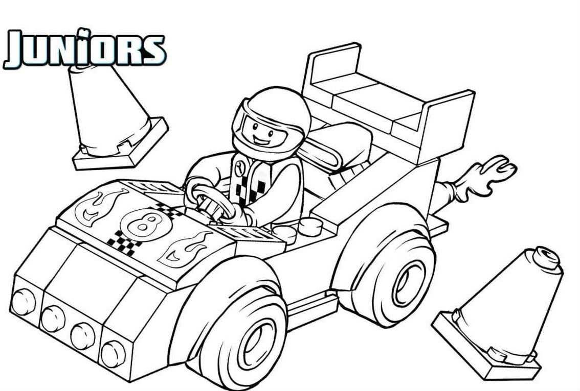 Lego Driving A Race Car Com Imagens Colorir Auto