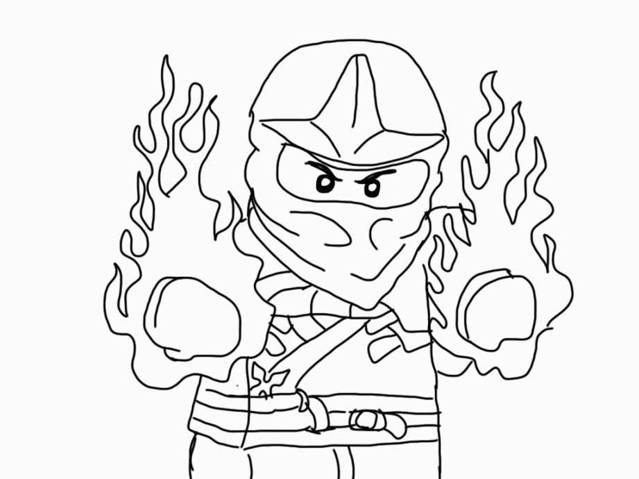 Ninjago Coloring Pages Kai Lego Coloring Pages Ninjago Coloring