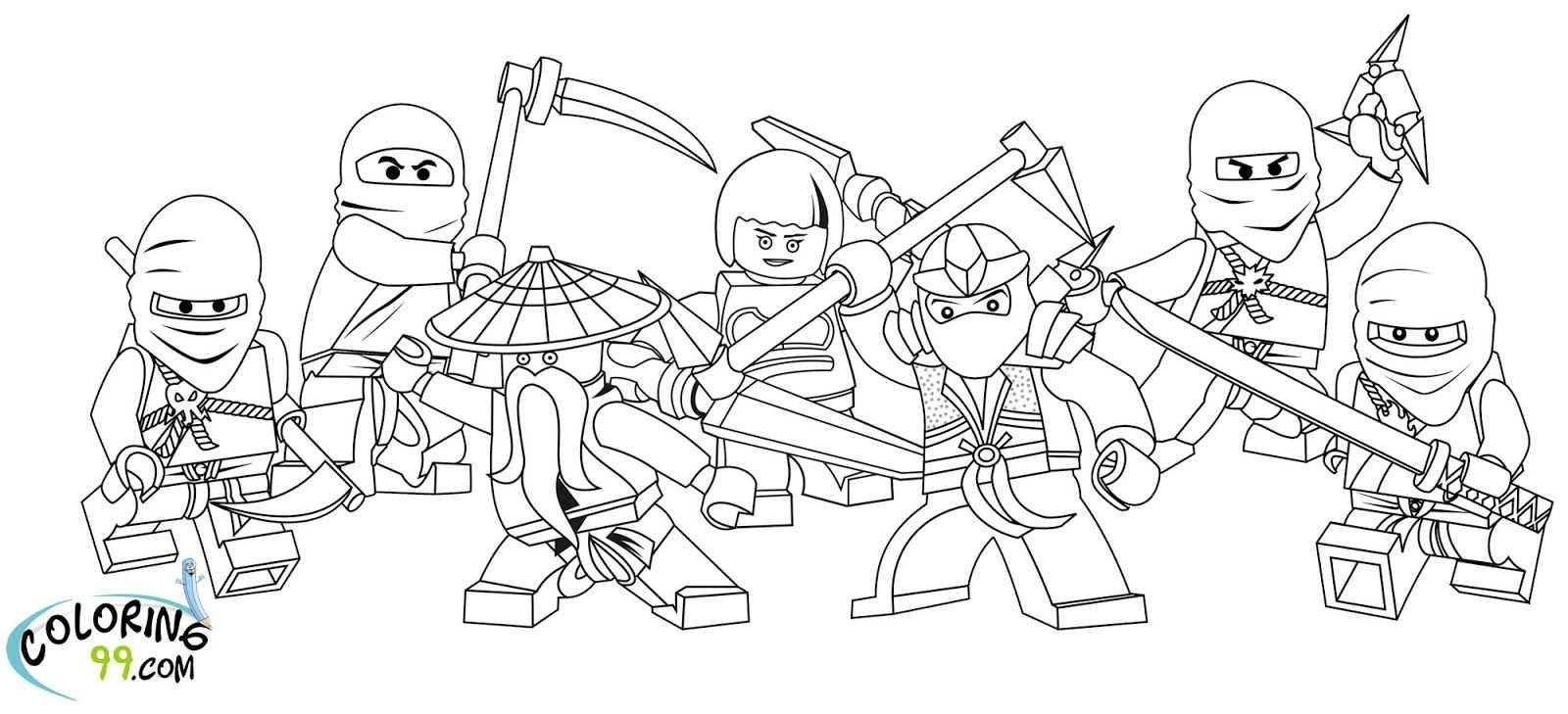 Ninjago Coloring Pages Lego Ninjago Coloring Pages To Print