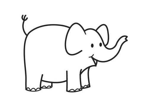 Kleurplaat Olifant Elephant Kleurplaten Olifanten Olifant