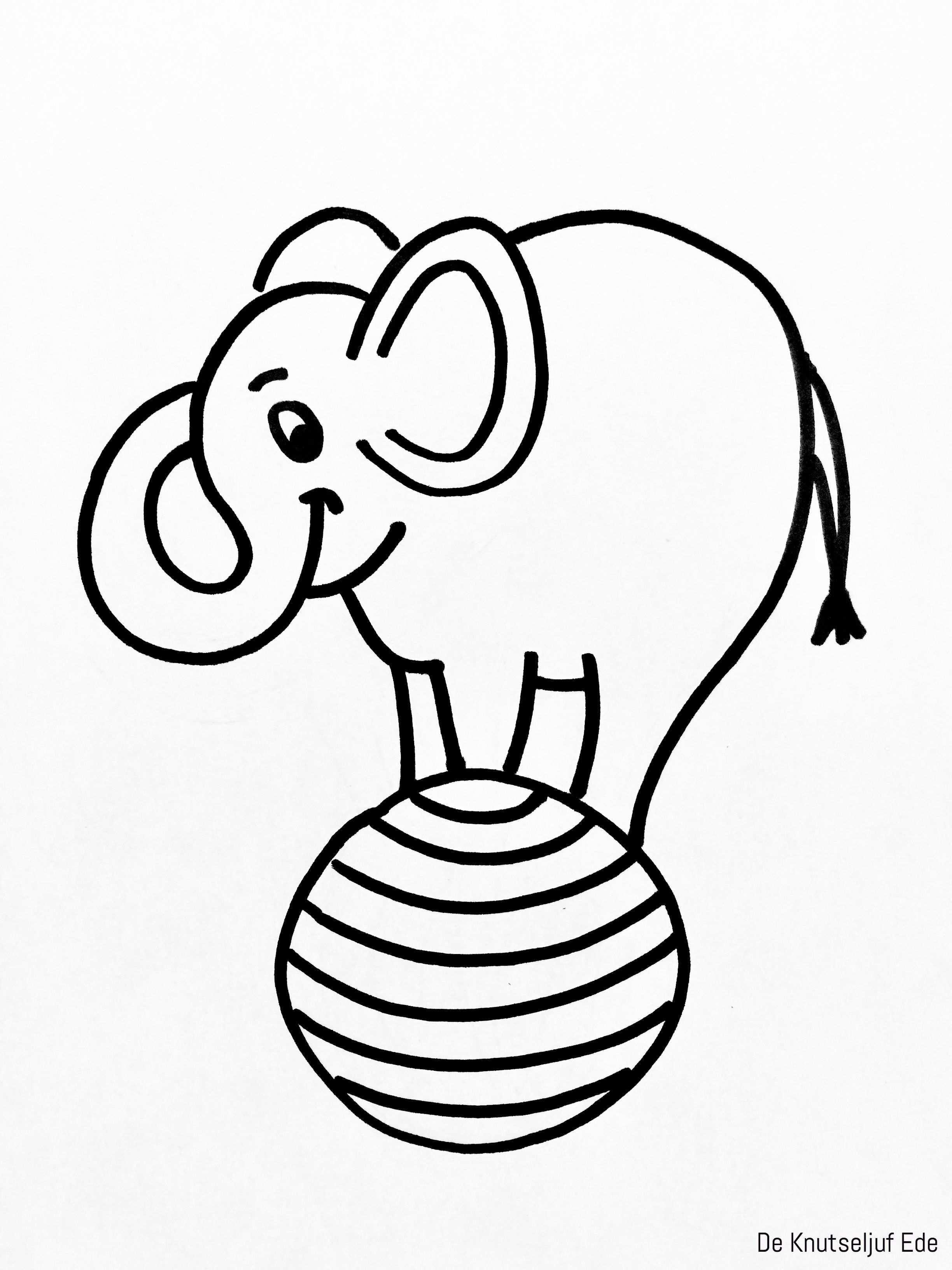Circus Olifant Knutselen Van Karton En Wasknijpers Olifant