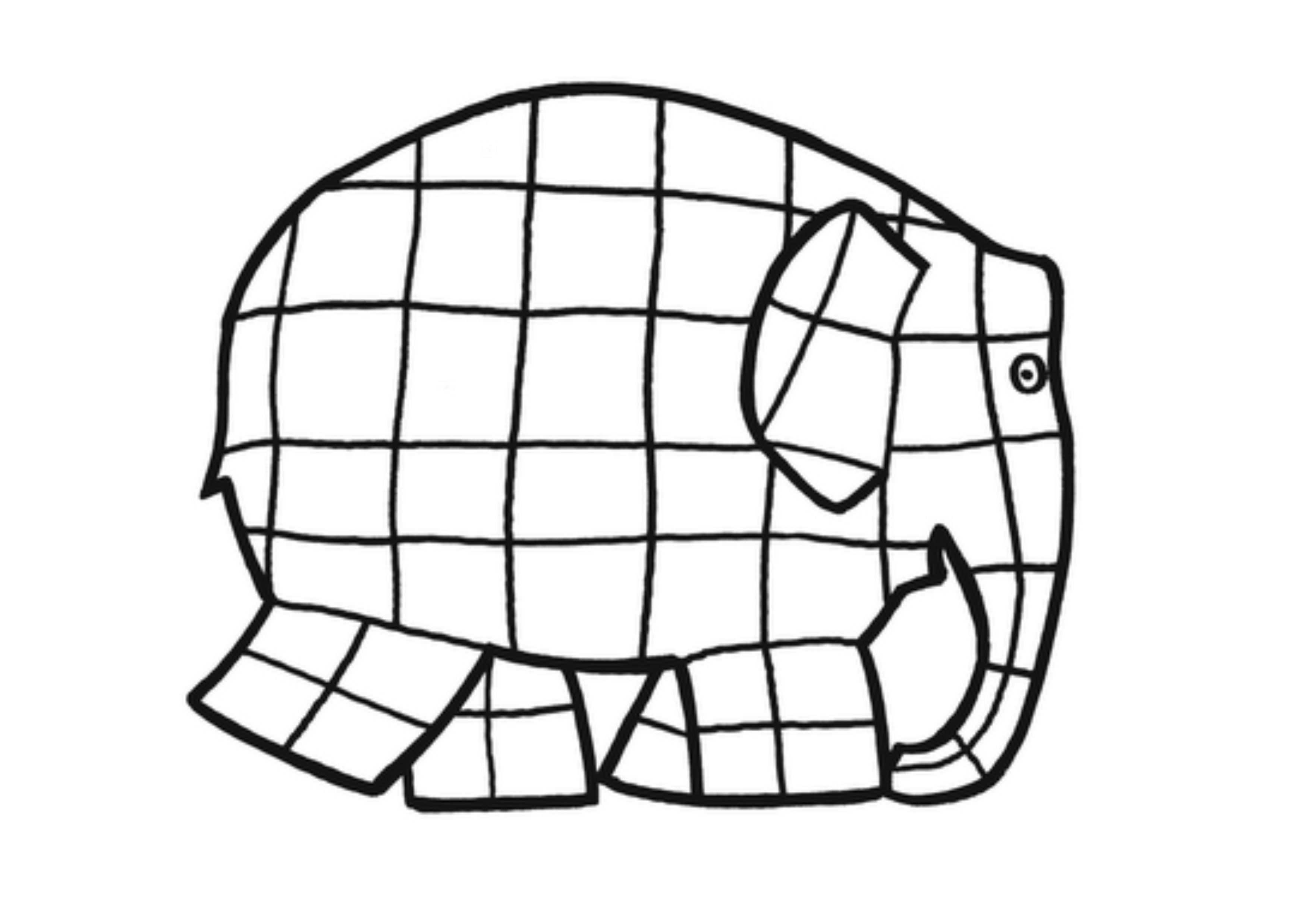 Elmer Kleurplaat Google Zoeken Elmer El Elefante Proyectos