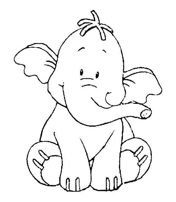 Kleurplaat Lollifant Olifant Szinezo Mintak Sablonok
