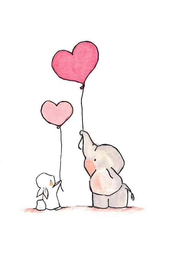 Erg Leuk Voor Een Baby Roze Hartjes Voor Een Meisje En Blauwe Voor