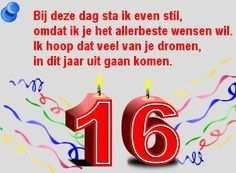 16 Jaar Verjaardag Plaatjes Voor Een Feestelijke Verjaring