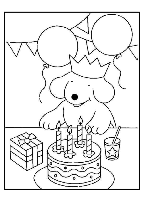 Kleurplaat Verjaardag Knutselen Thema Feest Kleurplaten