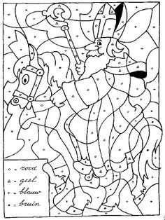 Sint Op Paard Kleuren Op Letter Met Afbeeldingen Sinterklaas
