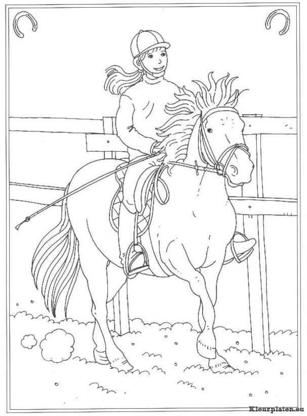 Op De Manege Kleurplaten Horse Coloring Pages Horse Coloring