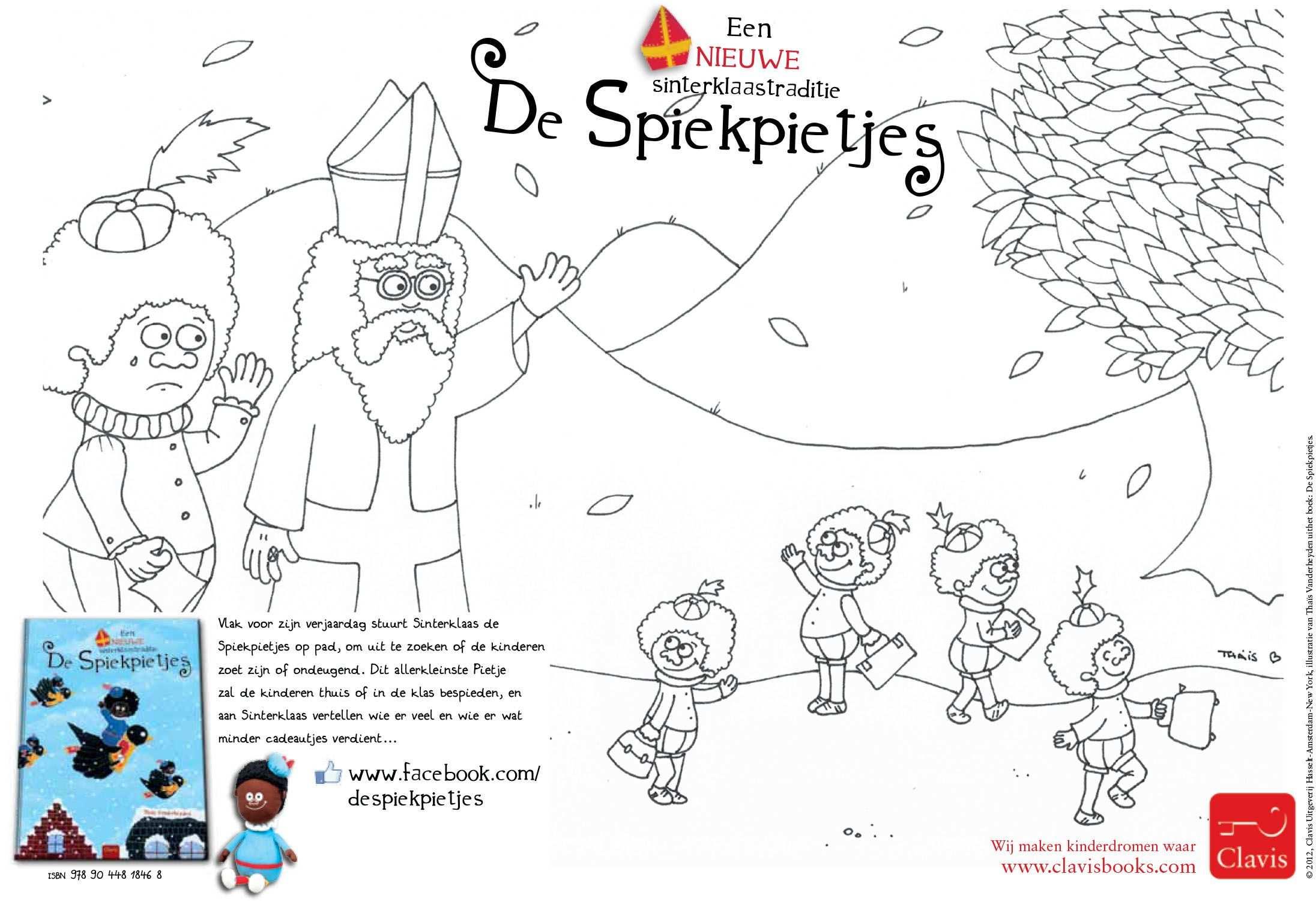 Kleurplaat Van De Spiekpietjes Sinterklaas Boek Van Clavis Http