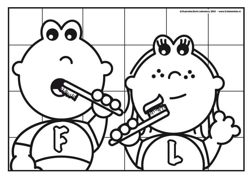 Frokkie Lola Aan Het Tanden Poetsen Tandarts Thema