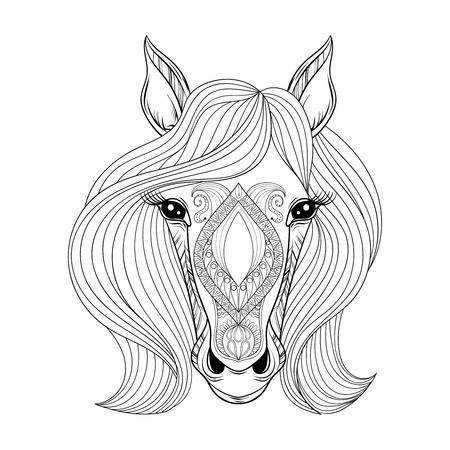 kleurplaat paard met veulen moeilijk
