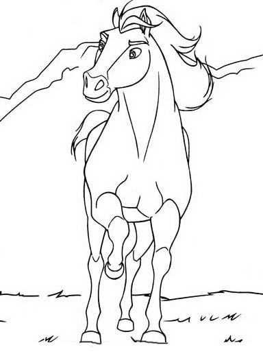 kleurplaat paard spirit
