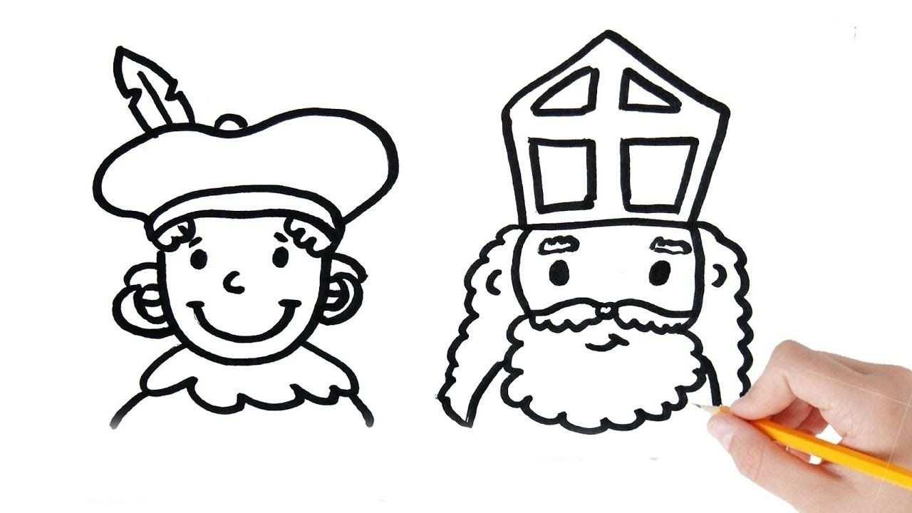 Hoe Teken Je Zwarte Piet En Sinterklaas Stap Voor Stap Met