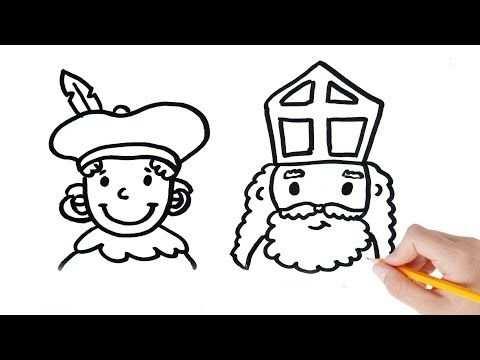 Hoe Teken Je Zwarte Piet En Sinterklaas Stap Voor Stap Youtube