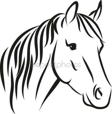 Downloaden Paard Met Lange Manen Stockillustratie 54242423