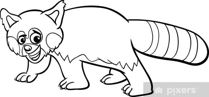 Fotobehang Rode Panda Cartoon Kleurplaat Pixers We Leven Om