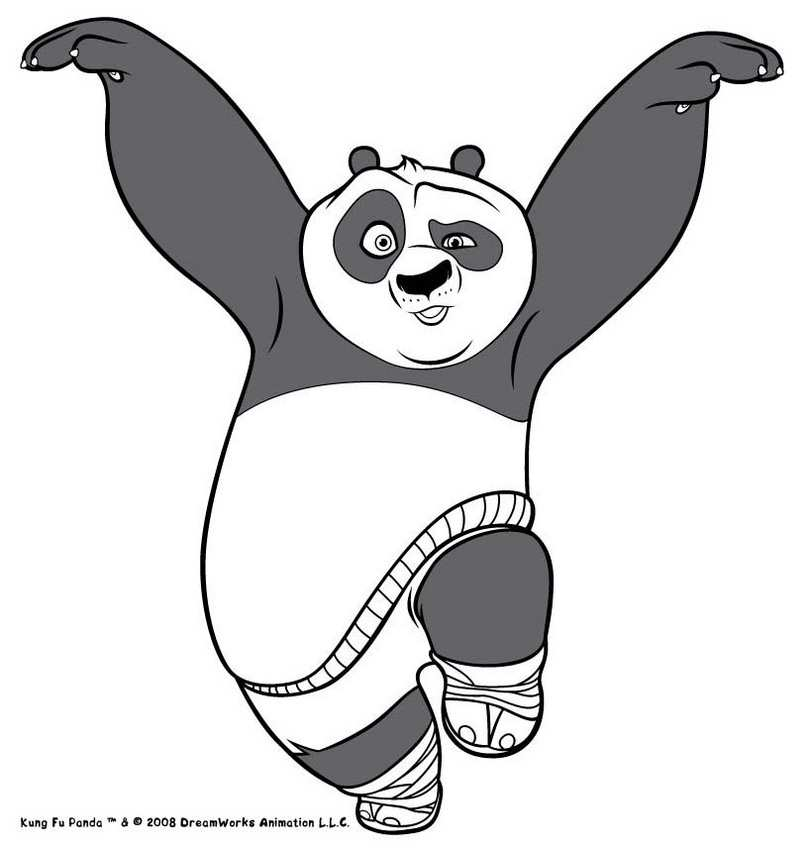 Kung Fu Panda Kleurplaten Voor Beginners