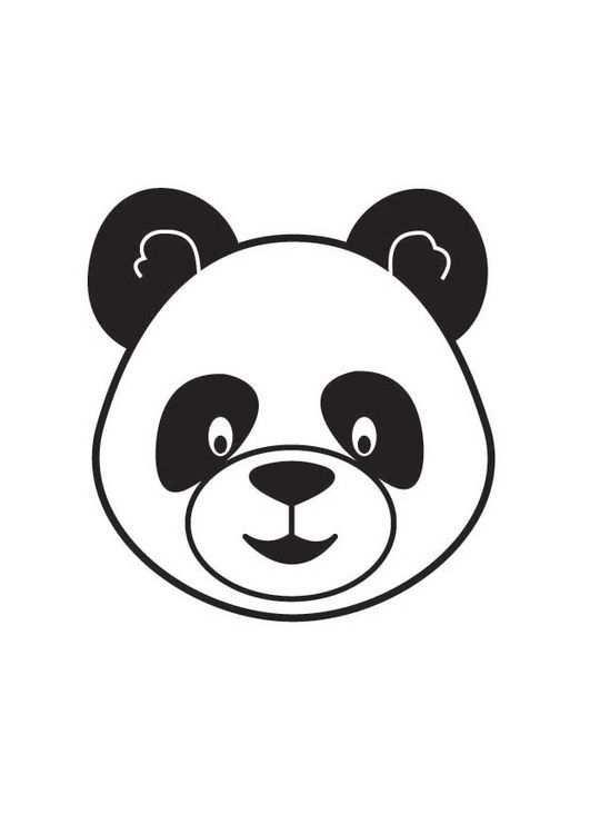 Coloriage Tete De Panda Osos Pandas Dibujo Oso Para Pintar