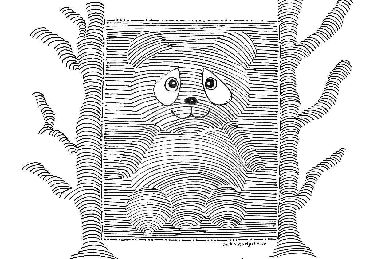 3d Tekening Pandabeertje De Knutseljuf Ede Tekenen 3d