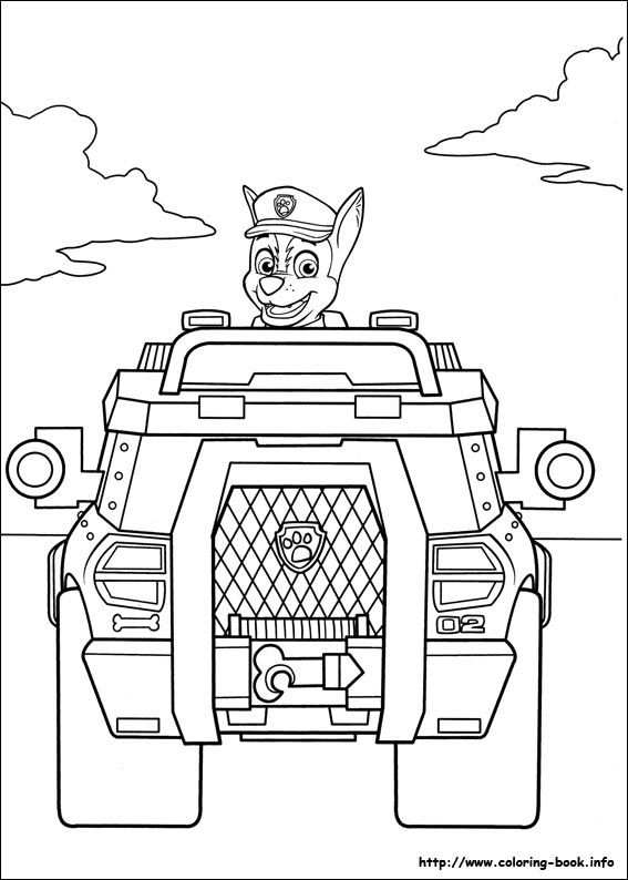 Chase Paw Patrol Coloring Pages Malarbocker