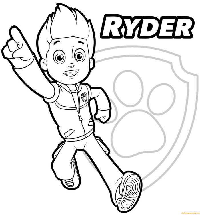 Paw Patrol Coloring Pages To Print With Images Paw Patrol