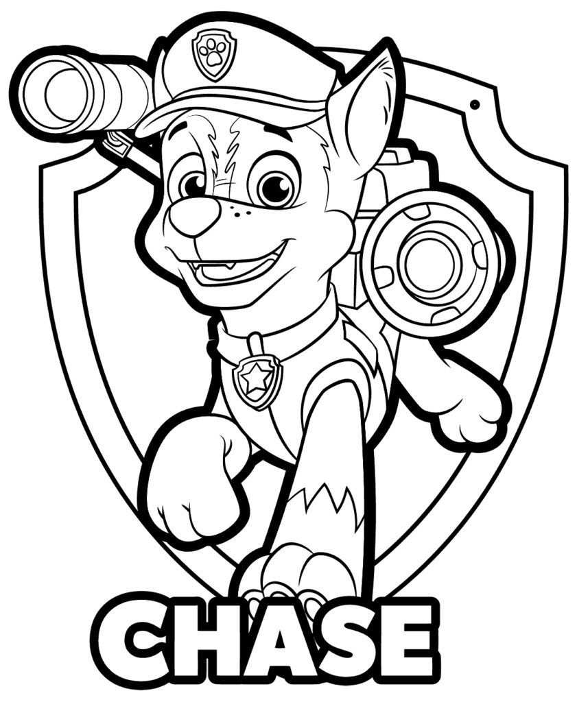 Chase Paw Patrol Coloring Page Coloring Pages Ideas Paw Patrolring