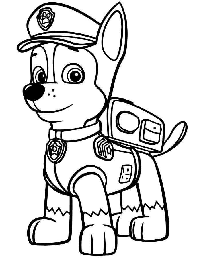 kleurplaat paw patrol robot hond