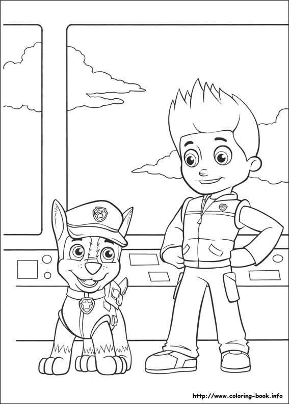 Chase And Ryder Paw Patroller Paw Patrol Coloring Pages Paw
