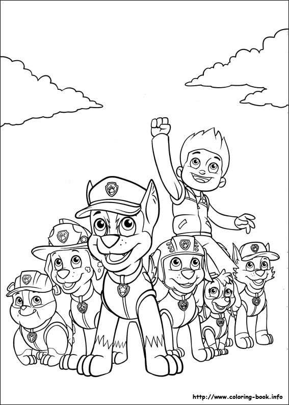 Free Coloring Pages Of Paw Patrol Team Paw Patrol Coloring Pages