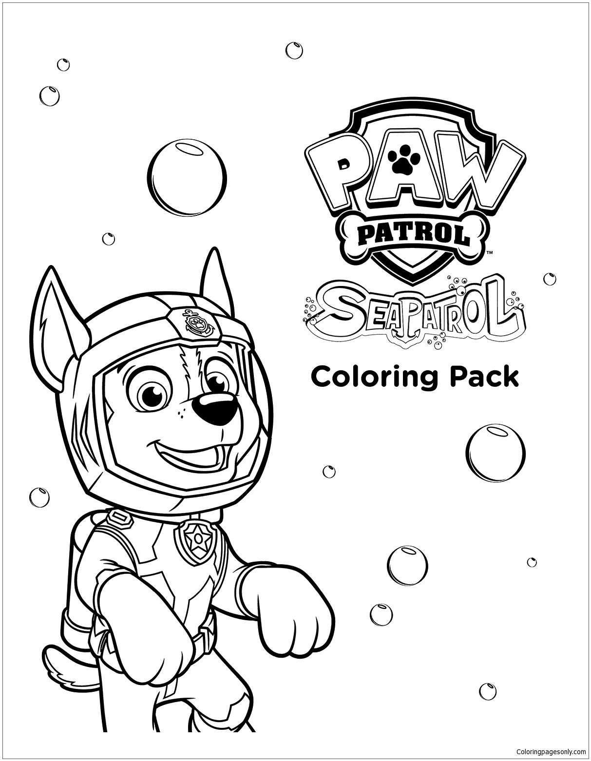Sea Paw Patrol Coloring Page Paw Patrol Coloring Paw Patrol