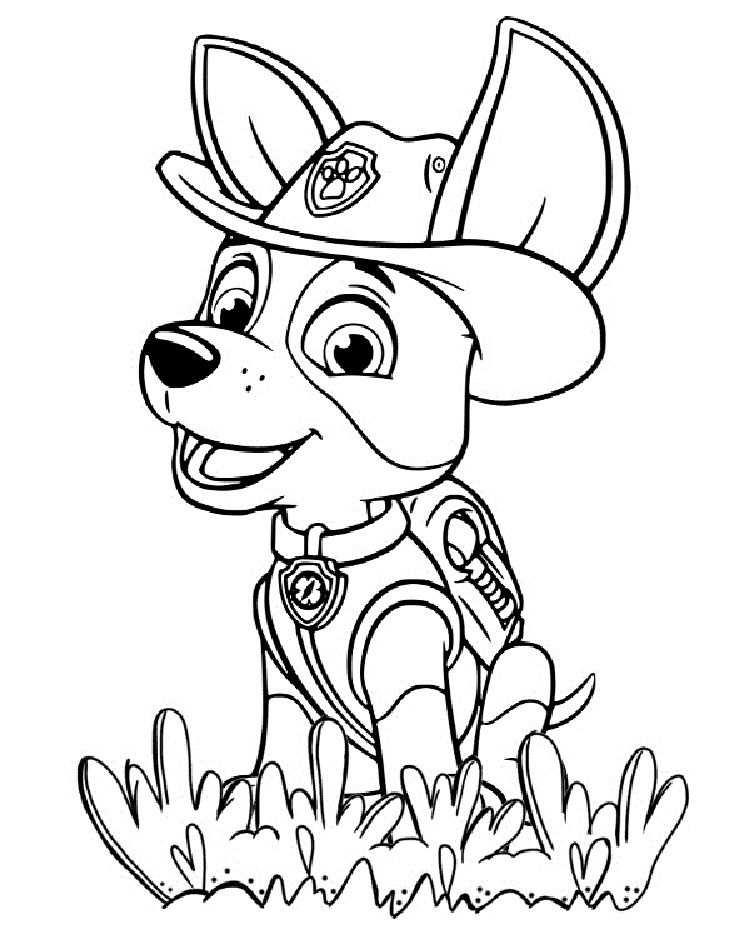 kleurplaat paw patrol tracker
