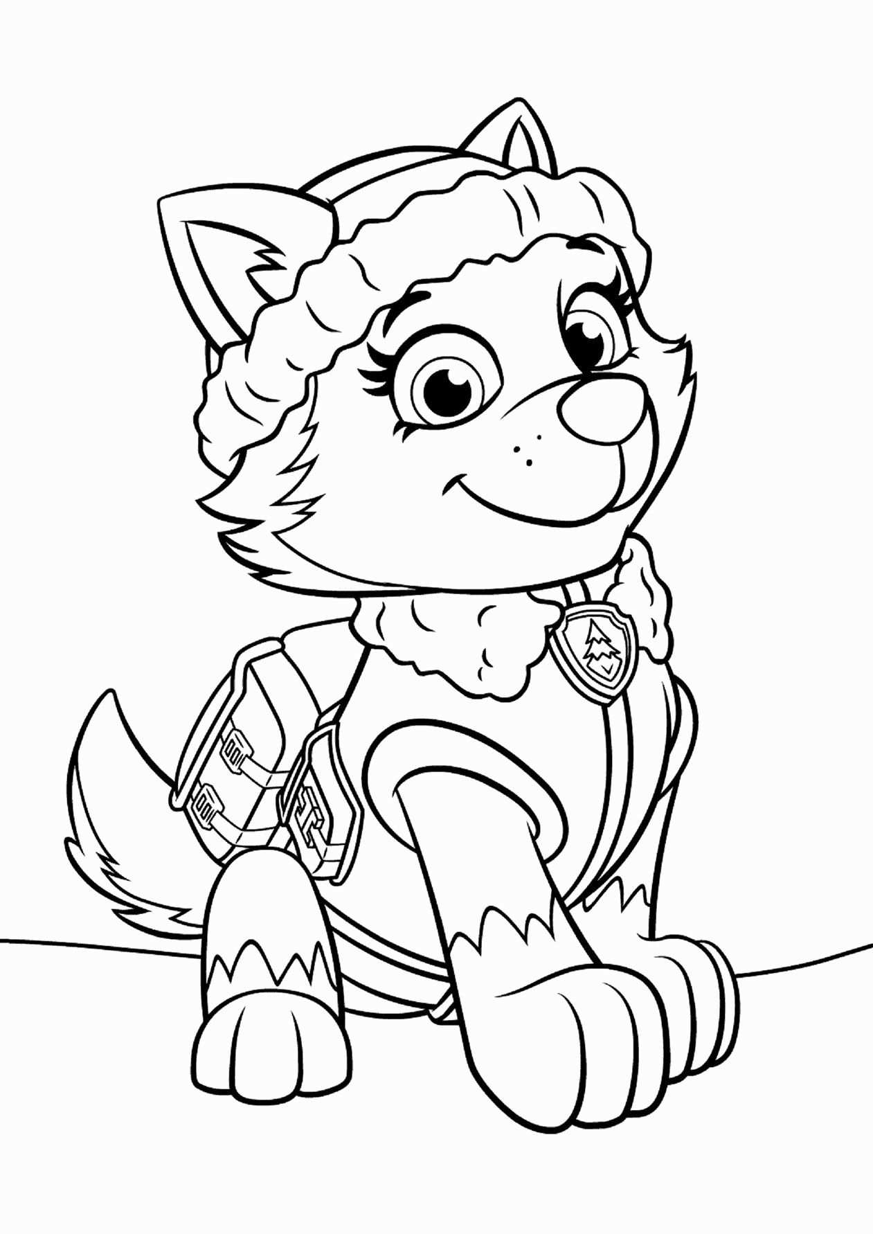 32 Paw Patrol Everest Coloring Page In 2020 With Images Paw