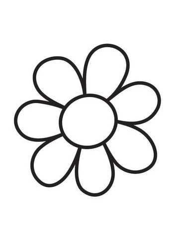 kleurplaat peuter bloem