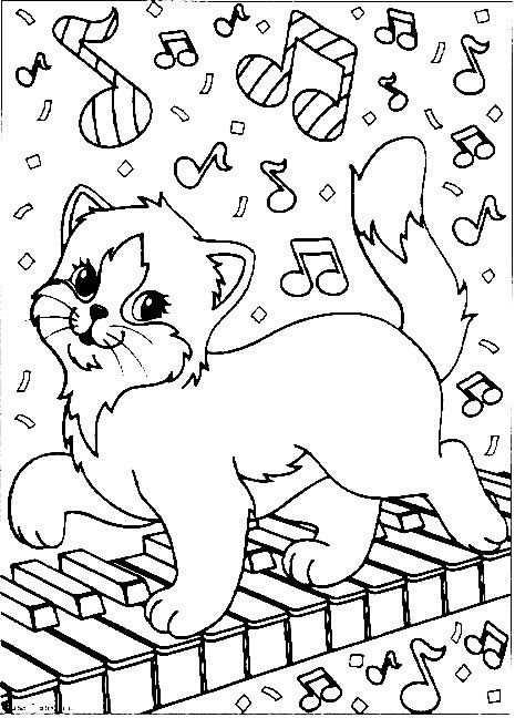 Kleurplaat Poezen En Katten Poezen En Katten Kleurplaten Dieren