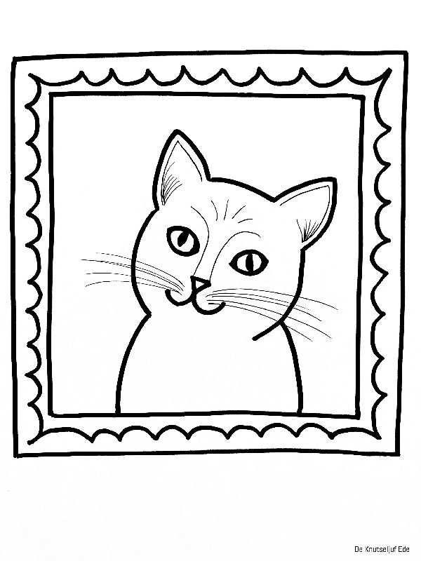 Kleurplaat Poes Kat Animaux De La Ferme Kleurplaten